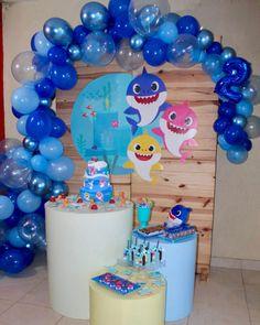 Baby Birthday Themes, Birthday Party Design, Kids Party Themes, Baby Girl Birthday, Boy Birthday Parties, Birthday Party Decorations, Baby Shark, Ariel, Toddler Boy Birthday