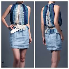New collection  Maudie dress w/ belt (blue) IDR 325,000