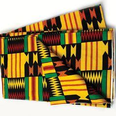 African Print #489 Kente cotton fabric. $8.50 per yard