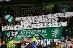 Celtic 1-0 Inverness Caledonian Thistle, 1st November 2014. A thank you to all supporters who brought food donation ahead of the match.