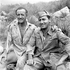 Alberto Sordi e David Niven