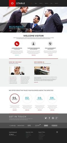 I am in love with it   Business Responsive Website Template view live demo  http://cattemplate.com/website-template/business-responsive-website-template-55/