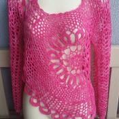 Circle Flower Crochet Tunic Pattern - via @Craftsy