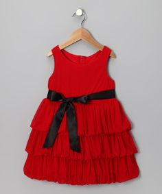 Take a look at the Red Ruffle Dress - Toddler & Girls on #zulily today! Without bow