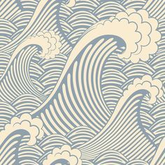 Waves of Chic   Removable Wallpaper   WallsNeedLove