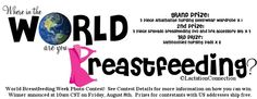 Join us August 1-7th for our #WBW2014 Where in the World are you Breastfeeding? Photo Contest!  http://www.facebook.com/LactationConnection