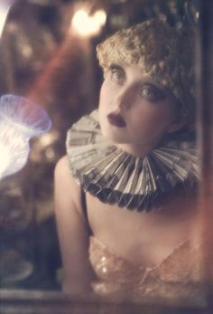 'Doll House,' antique chandeliers, huge eyelashes and quirky #fashion #photography from Stefan Giftthaler on @Behance