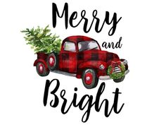 Red Plaid Christmas Truck Print Printable Watercolor Christmas Sublimation Digital File Clipart Graphics Download Design Ephrazy Christmas Truck, Plaid Christmas, Christmas Design, Watercolor Christmas, Red Tree, Project Yourself, Merry And Bright, Red Plaid, Watercolor Illustration