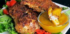 Bone Suckin' Gluten Free Fried Chicken Recipe with our Sweet Hot Mustard for dipping! Yummmm!