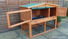 It has 2 fully opening doors which makes is very easy to access the living areas of the hutch. The doors are lockable with secure barrel locks, a feature many similar designs don't offer. Woodworking Guide, Custom Woodworking, Woodworking Projects Plans, Animals For Kids, Farm Animals, Bunny Cages, Bunny Rabbits, Bunny Supplies, Rabbit Pen