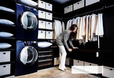 I like this idea....with the laundry in the closet..hmmmm