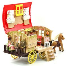 Sylvanian Families Cath Kidston Decorated Gypsy Caravan