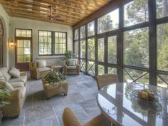 To help outline some of the practicalities, and frankly some eye-popping designs, of screened in porches, here are 8 examples of how a screened in porch can be a defining element to any outdoor living space. Outdoor Living Space, Porch Flooring, Screened In Porch, Home, Screened Porch Designs, Custom Homes, House With Porch, Balcony Design, Porch Design