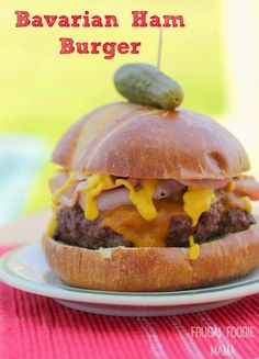 Bavarian Ham Burger-
