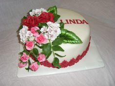 dort s květinami cake flowers