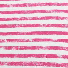 Graffiti Stripe Pink Cotton Jersey Knit Fabric