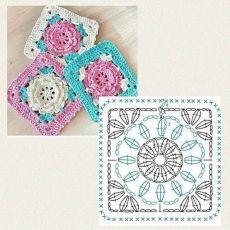 Transcendent Crochet a Solid Granny Square Ideas. Inconceivable Crochet a Solid Granny Square Ideas. Motifs Granny Square, Crochet Squares Afghan, Granny Square Crochet Pattern, Crochet Diagram, Crochet Chart, Crochet Granny, Crochet Blanket Patterns, Crochet Motif, Diy Crochet