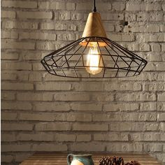 96.00$  Buy now - http://alimxm.worldwells.pw/go.php?t=32340207649 - Nordic Vintage Metal Nets Droplight Black White American Country Retro Hanging Lamps Home Indoor Dining Room Cafes Pub Lighting