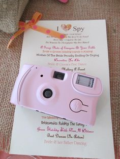 awesome wedding game! but use Instagram instead of disposable cameras