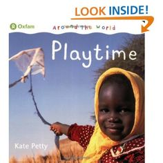 "Around The World: Playtime by Kate Petty. Consider this and other ""Around the World"" books since the twins love looking at photographs of faces so much."