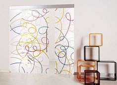 Creative Designer Frosted Glass Doors would love this as a shower wall for my walk in shower