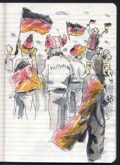 Sebastian Koch - Skizzenbücher - WM Public Viewing