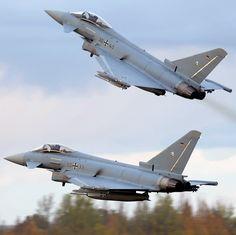 Two German Eurofighters