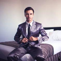 How I Met Your Mother Grey Silk Suitjamas. #FancyGiving #howImetyourmother