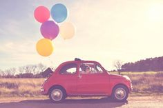 Ballon on the move Bridal Car, Wedding Car, Wedding Pictures, Would You Marry Me, Types Of Flowers, Life Is Beautiful, Road Trip, Wedding Inspiration, Photography
