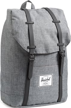 Herschel Supply Co. Charcoal Crosshatch Retreat Backpack 1