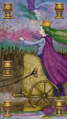 Belle Constantinne - 05 of Cups - Reflections Tarot