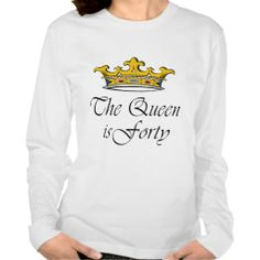 40th Birthday The Queen Is 40 Long Sleeve T Shirt