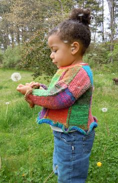 PATCHES CHILD cardigan knitting pattern PDF by LismiKnits on Etsy, $6.00