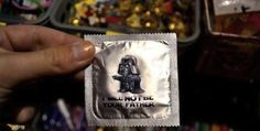 Darth Vader condom contains the message: I Will Not Be Your Father
