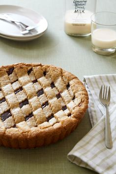 peanut butter & jelly linzer torte…it's like a hot PB&J with a cookie crust. I bake he shoots Peanut Recipes, Almond Recipes, Baking Flour, Tart Recipes, Peanut Butter, Cookie Butter, Great Recipes, Healthy Recipes, Sweets