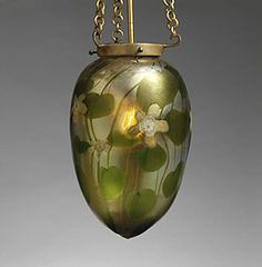 Louis Comfort Tiffany and Tiffany Furnaces, hanging globe from Fountain Court 1904-1910. Favrile glass. Winter Park, Florida, The Charles Hosmer Morse Museum of American Art.