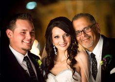 Beautiful picture of the bride with groom & dad wedding photography love this @BridalGuide
