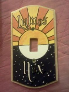 """harry potter switch plate. """"happiness can be found, even in the darkest of times, if one only remembers to turn on the light."""" love"""