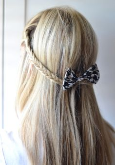 Add a bow for an adorable and feminine look!