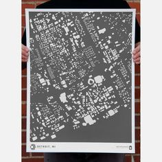 Detroit Print Gray now featured on Fab.  A lot of other cities available.