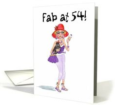 Red Hats 54th Birthday card (791762)