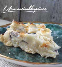 maa-artisokkapiiras Potato Salad, Dairy, Potatoes, Cheese, Ethnic Recipes, Food, Eten, Potato, Meals
