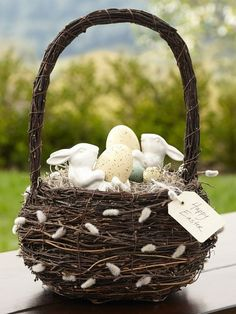 Pussy Willow Basket