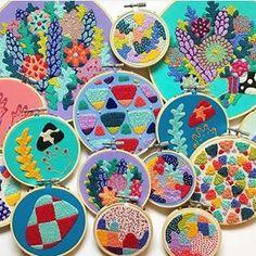 En el blog volvemos con la 3a remesa de bordadoras que deberías seguir en Instagram. El bordado está muy de moda y en Instagram descubrimos todos los días artistas increíbles. ¡Esperamos que os inspiren a bordar tanto como a nosotros!  Una de ellas es @kellryan Descúbrelas todas en www.elblogdedmc.com    #embroidery #dmc #bordado #broderie #ricamo #handmade #hechoamano #faitalamain #jean #denim #stitchersofinstagram