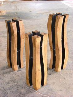 Holz Stehlen stehlen holz stahl 04 tableware formschluss filigran
