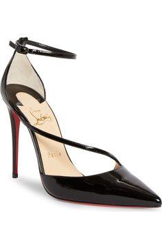 Christian Louboutin Fliketta Pump In Black Stiletto Pumps, Women's Pumps, Stilettos, Shoe Boots, Shoes Heels, Cl Shoes, High Heels, Black Patent Leather Shoes, Black Pumps