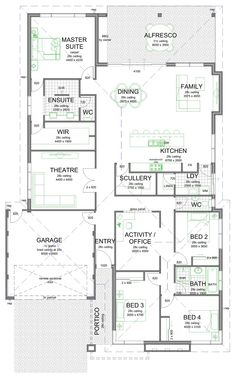 Some of you may like this floor plan with the scullery/laundry/kitchen layout. I… Some of you may like this floor plan with the scullery/laundry/kitchen layout. Home Design Floor Plans, Kitchen Floor Plans, Plan Design, Layout Design, Design Ideas, New House Plans, Dream House Plans, House Floor Plans, Dream Houses