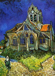 Vincent van Gogh    Auvers-sur-Oise'deki Kilise / The Church at Auvers    1890. Tuval üzerine yağlıboya. 74 x 94 cm. Musée d'Orsay, Paris.