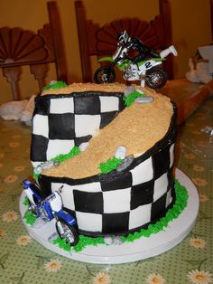 Motocross Birthday Cake Bike Birthday Parties, Dirt Bike Birthday, 3rd Birthday, Birthday Stuff, Birthday Cakes, Birthday Ideas, Fondant Cake Designs, Fondant Cakes, Motocross Cake