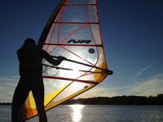 Windsurfing on Silver Lake, Wisconsin